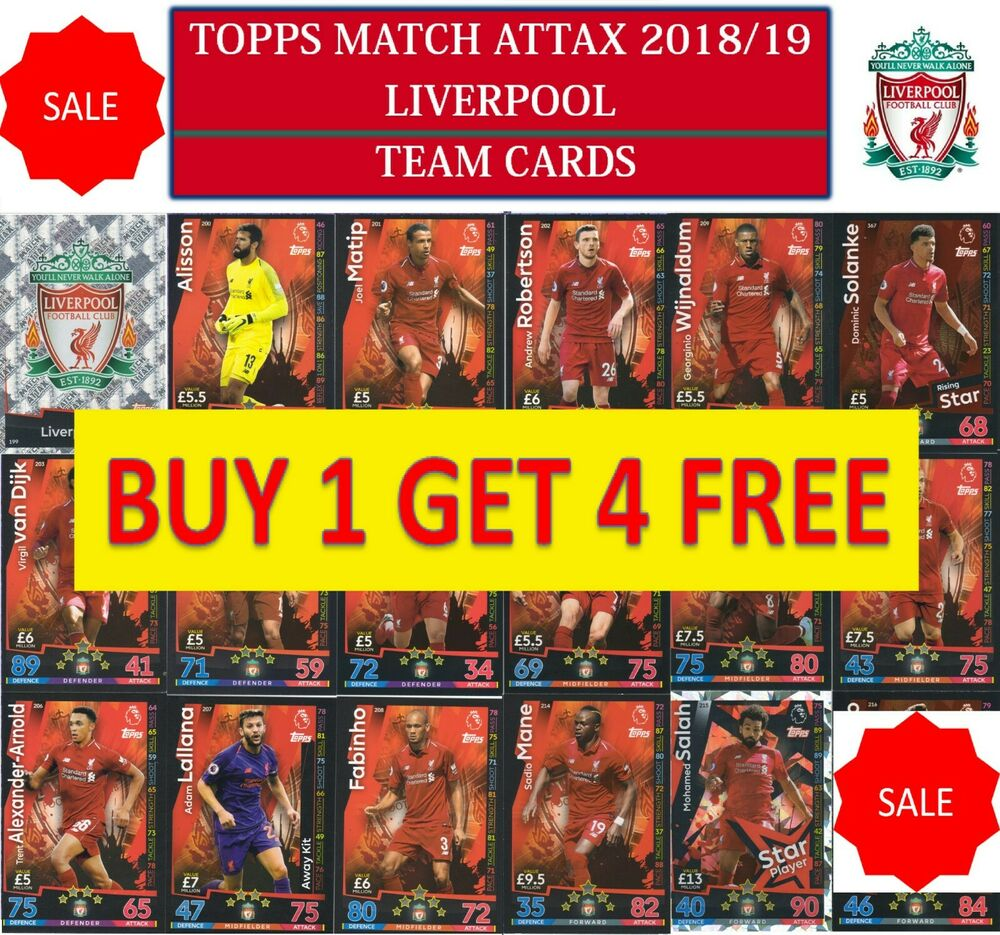 Topps Match Attax 2018 2019 18 19 Choose Your LIVERPOOL