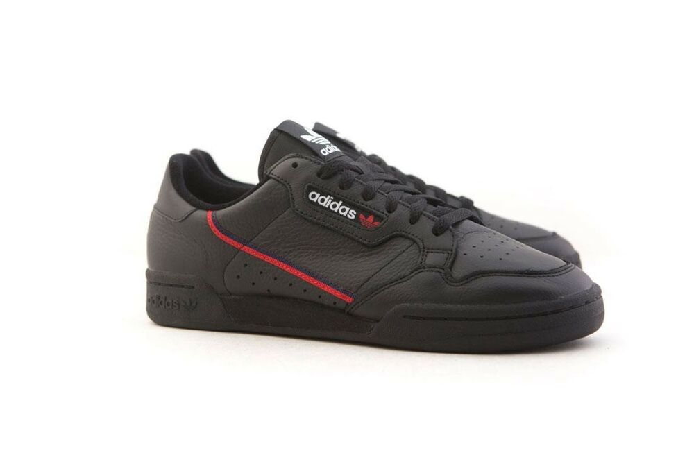 new concept 8c13d 9ad0a Details about B41672 Adidas Men Continental 80 Rascal black scarlet  collegiate navy