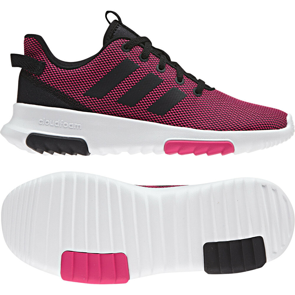 cf4fa26fbc5 Details about Adidas Kids Girls Shoes Running Cloudfoam Racer TR Fashion  Trainers B75659 New