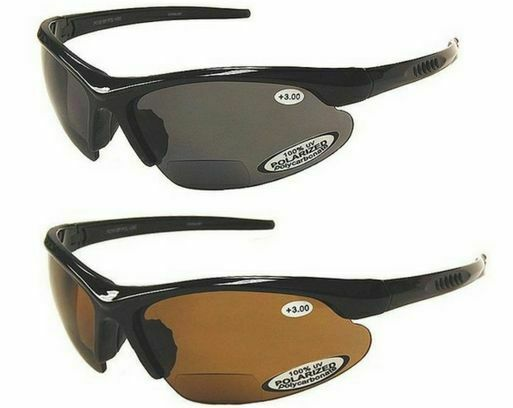 508609ac6c Details about BiFocal Polarized Sunglasses Fishing Reading Mens 100% UV  Wrap Around TR90 Frame
