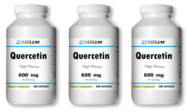 Quercetin 600mg 300mg High Potency 1-3 BIG Bottles 120-600 Capsules USA SHIPPING