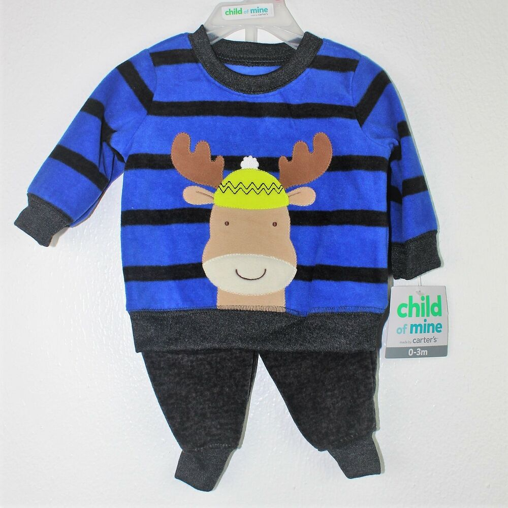 029b594c8 Details about NWT-Carters/Child Of Mine- Boys 2 Piece Set- Jacket and Pants  -Size 0-3 months