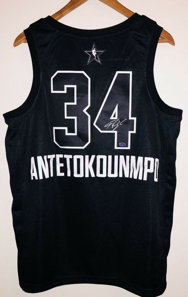 Details about Giannis Antetokounmpo Autographed 2018 All Star Signed Jersey  ANTETOKOUNMPO COA 954d0f9c9
