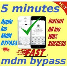 APPLE MDM BYPASS IPHONE /IPAD /IPOD  iOS  12.2 SUPPORTED [INSTANT]