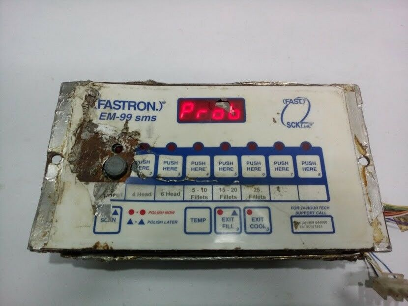 Fastron em-99 sms 811 axmx-kc6 p/n 231-60078-06 panel working.