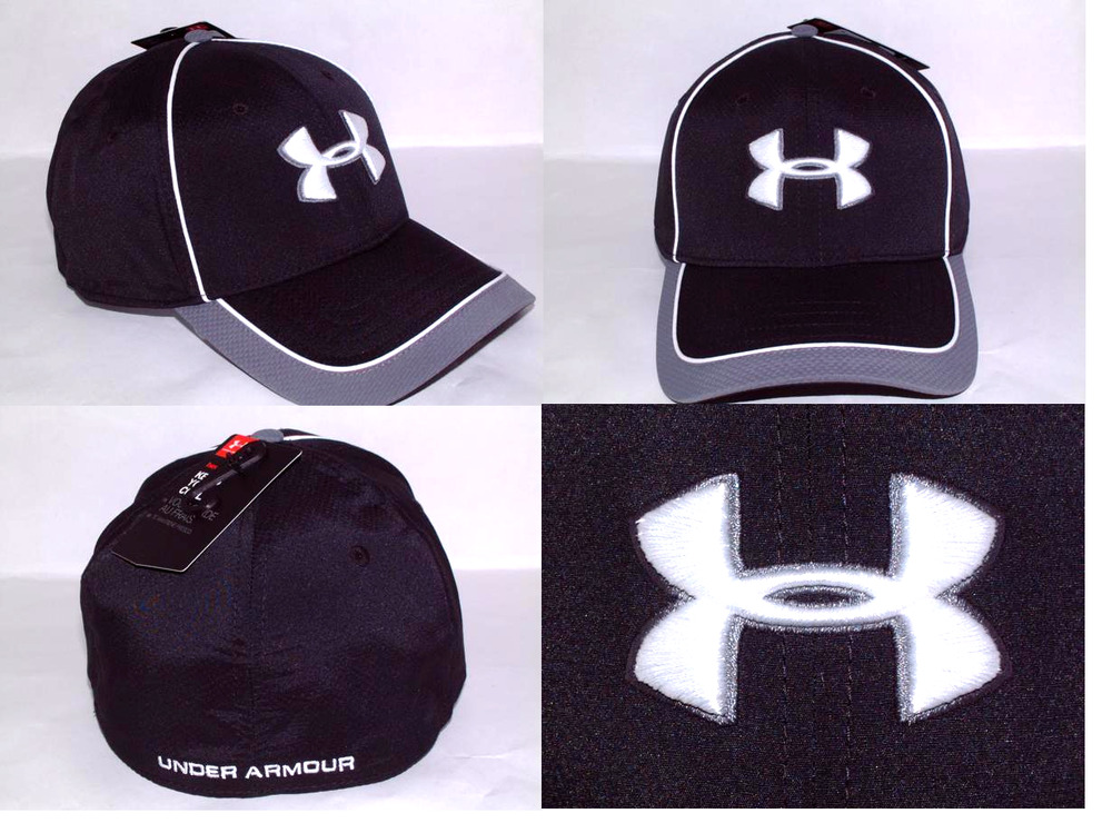 Details about Men s Under Armour UA Classic Fit 100% Polyester Stretch Fit  Caps CHOOSE SIZE 54c7bfdd159