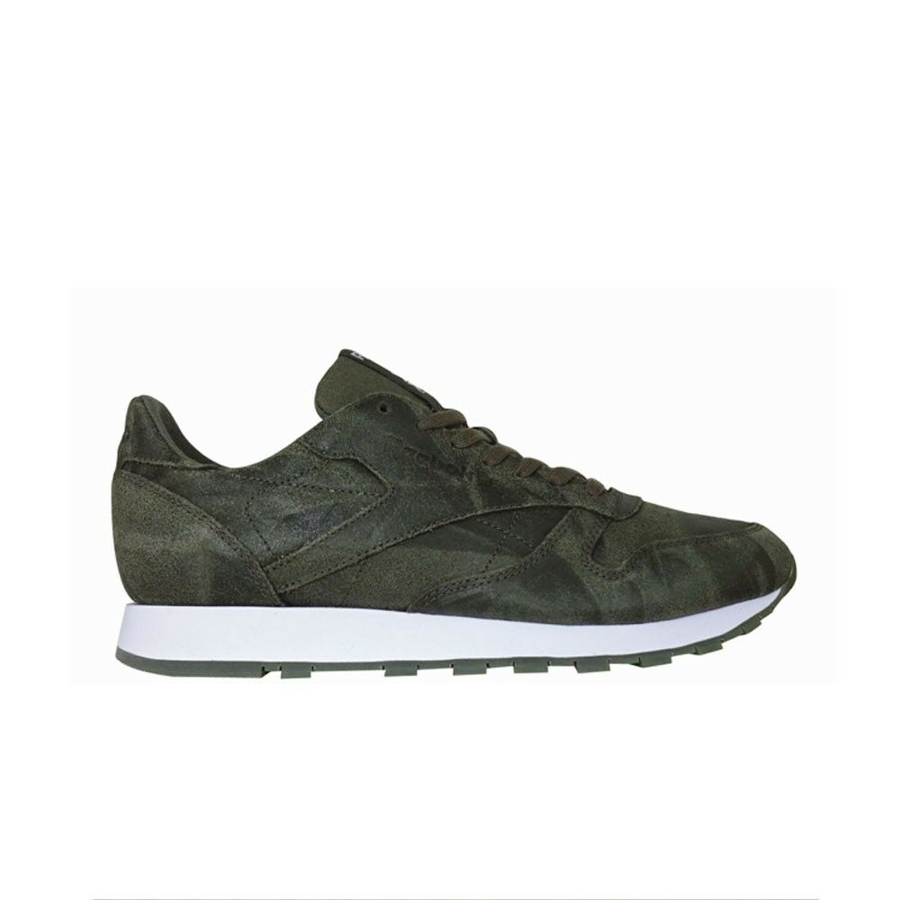 2a28b6c13b38f5 Details about Reebok Classic Leather Cte (ARMY GREEN WHITE) Men s Shoes  BS5258
