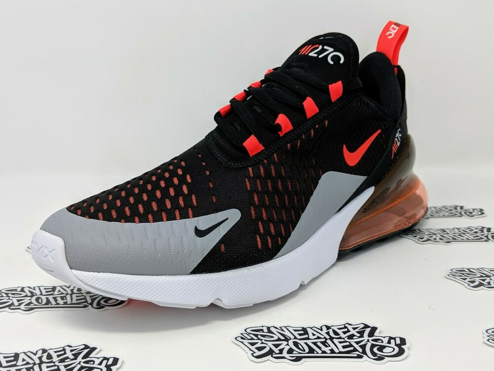 newest 74854 b5004 Details about Nike Air Max 270 Black Bright Hyper Crimson Wolf Grey Red  Running AH8050-015