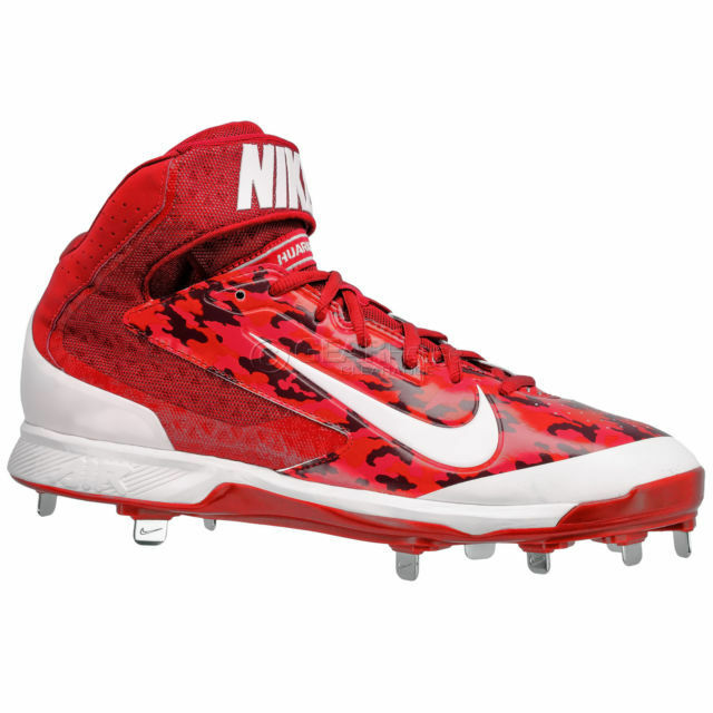 45b3e73c8c22 Details about New Nike Air Huarache Pro 3 4 Mid Metal Mens Baseball Cleats    Red Camo Size 13