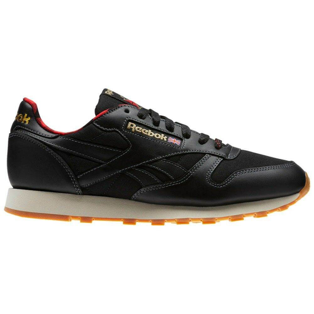 Details about Reebok Classic Leather Lj (BLACK PRIMAL RED GOLD PAP) Men s  Shoes CN2276 b5b0880d2