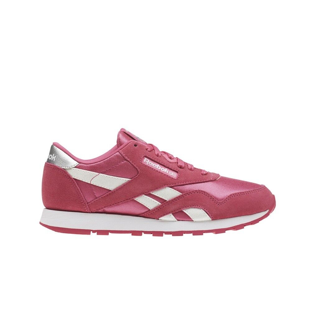 99685c22369d24 Details about Reebok Classic Leather Nylon (PINK WHITE) Grade School Kids  Shoes CN1263
