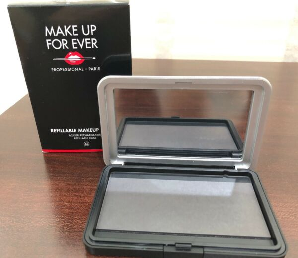 MAKE UP FOR EVER Refillable Makeup System Mirrored Case XL Extra Large NIB