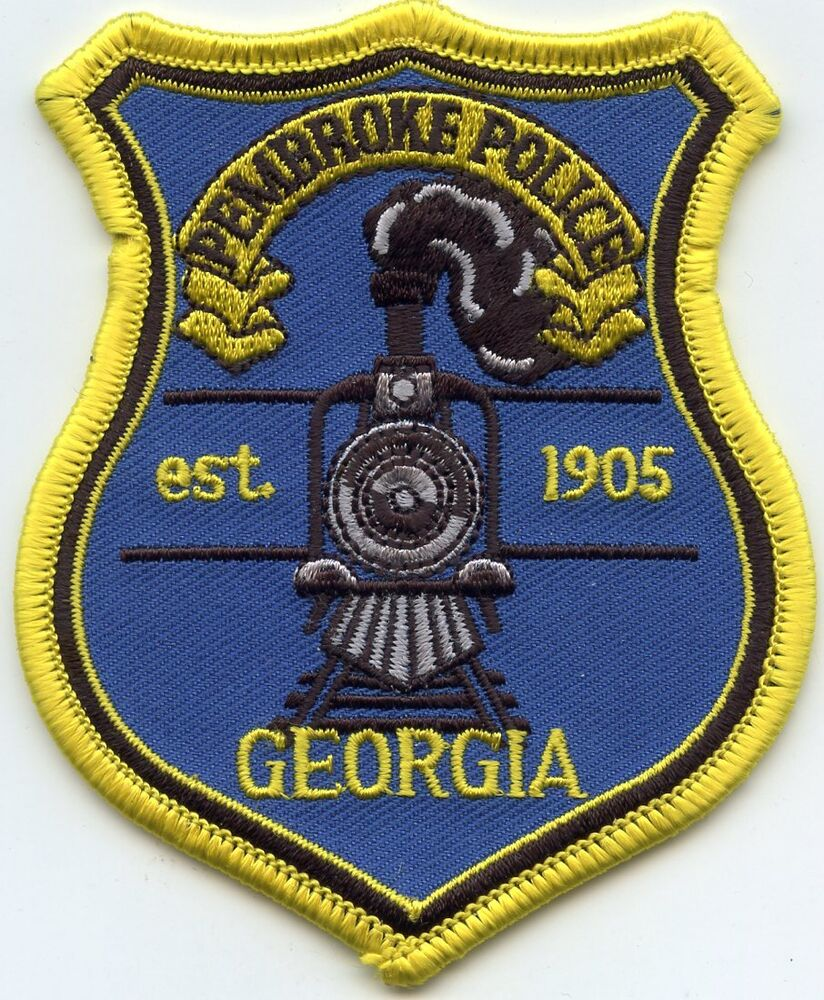 PEMBROKE GEORGIA GA Train POLICE PATCH