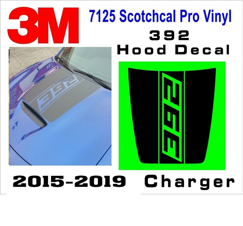Details about 392 dodge charger power bulge hood decal daytona srt hellcat scat pack 2015 2018