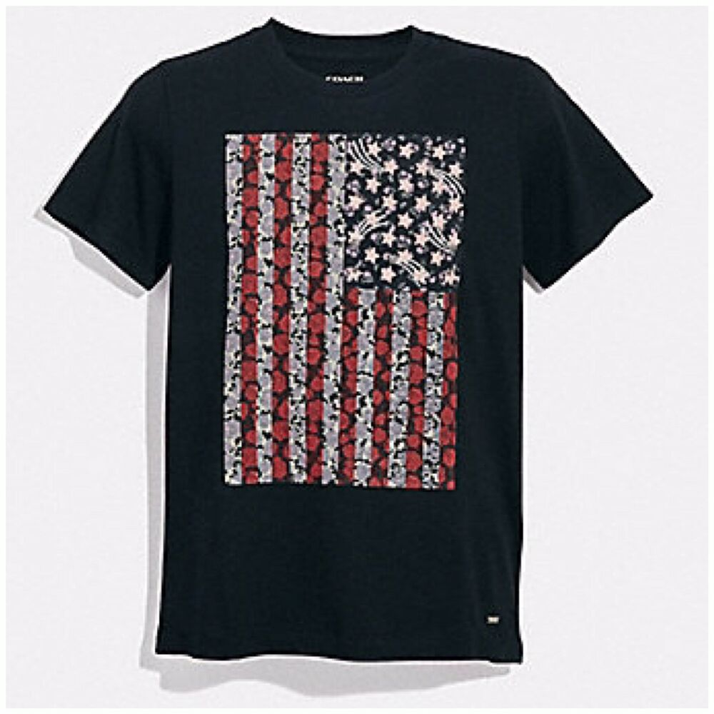 Details about COACH NEW YORK AMERICANA T-SHIRT IN BLACK Sz M F29076) NWT  MSRP   195.00 1678b683c00