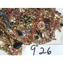 1/4 LB VTG Mix Shapes Rhinestone Findings Jewelry Craft Design Lot Chain Flower