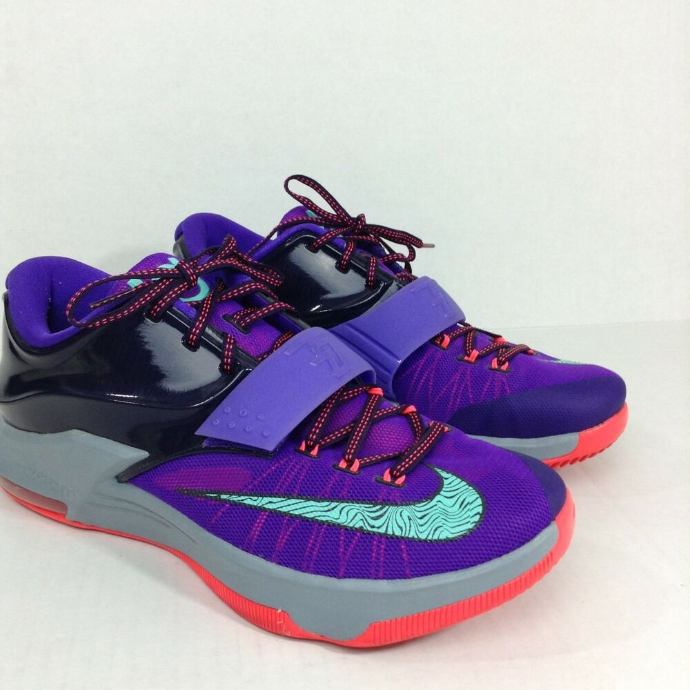 new style f05fa 0f4fe Details about Nike Basketball KD7 Lightning 534 Size 11.5 Kevin Durant  Purple Teal Mens 11.5