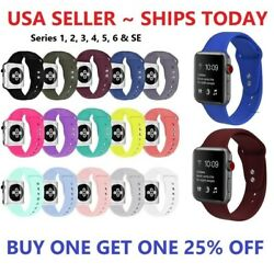 Kyпить Silicone Strap Band for Apple Watch Sports Series 6 5 4 3 2 1 SE 38/40/42/44mm на еВаy.соm