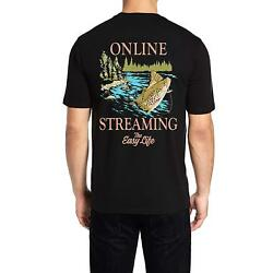 Men's t shirt Online Streaming The Easy Life Fishing  Camping 100% Cotton NEW