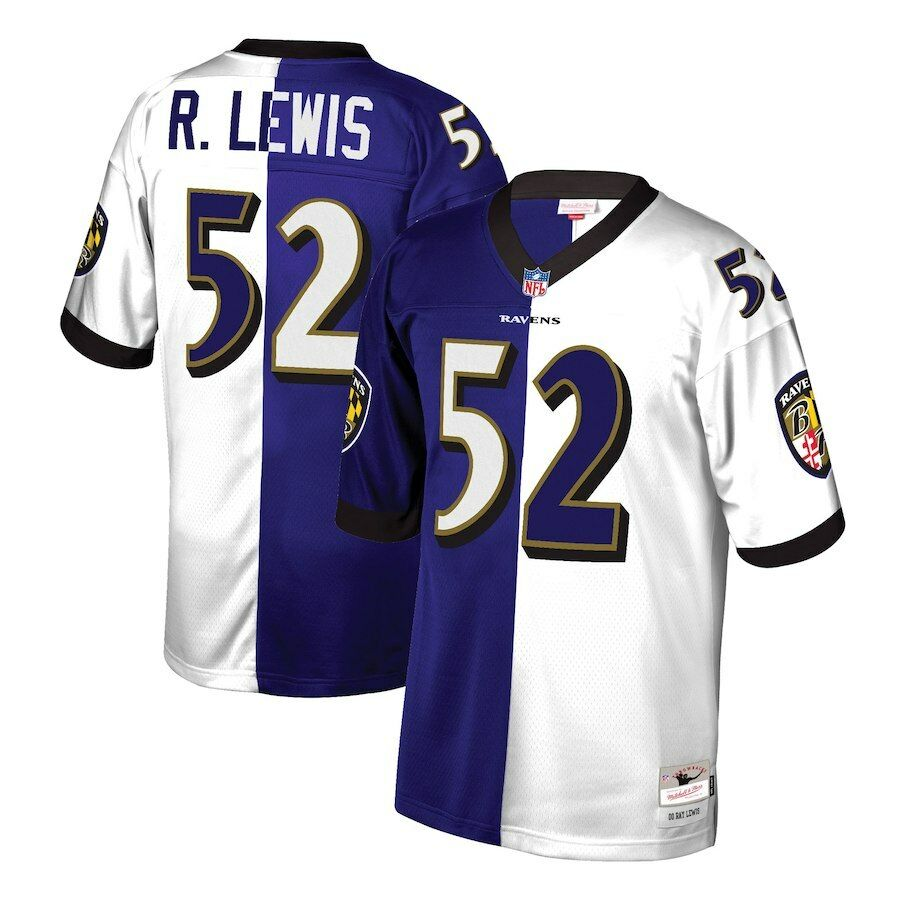 Mitchell   Ness Split Home   Away Legacy Jersey Baltimore Ravens 2000 Ray  Lewis f0d228fda