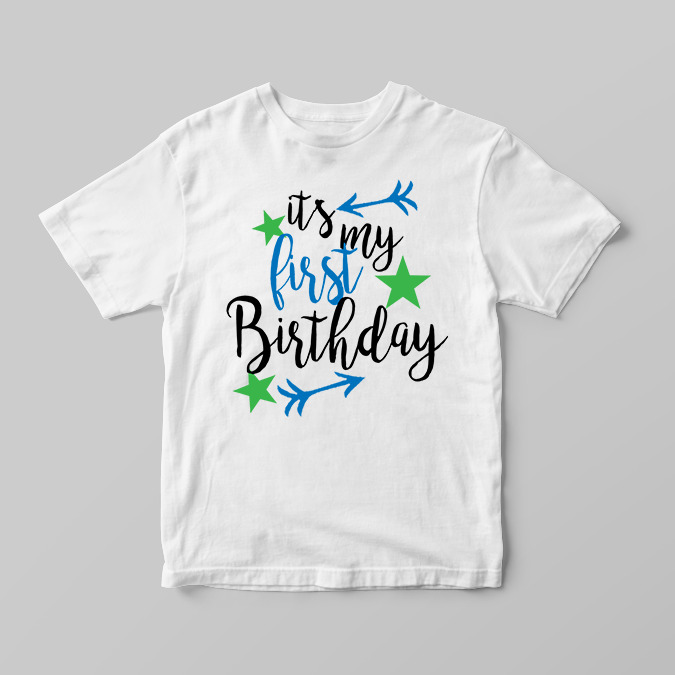 Details About Its My First 1st Birthday Boys Childrens Kids T Shirts Shirt Top Arrow Star