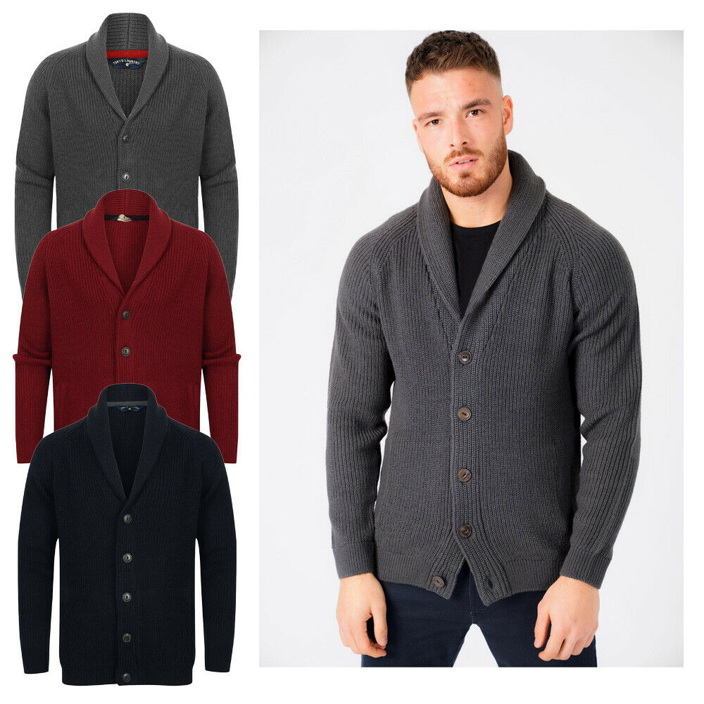 4c1fab6c6082 Details about New Mens Tokyo Laundry Shawl Neck Long Sleeve Wool Blend  Cardigans Size S - XXL