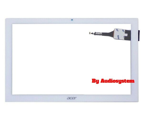 TOUCH SCREEN+VETRO PER ACER ICONIA ONE 10 B3-A40 A7001 +BIADESIVO BIANCO DISPLAY