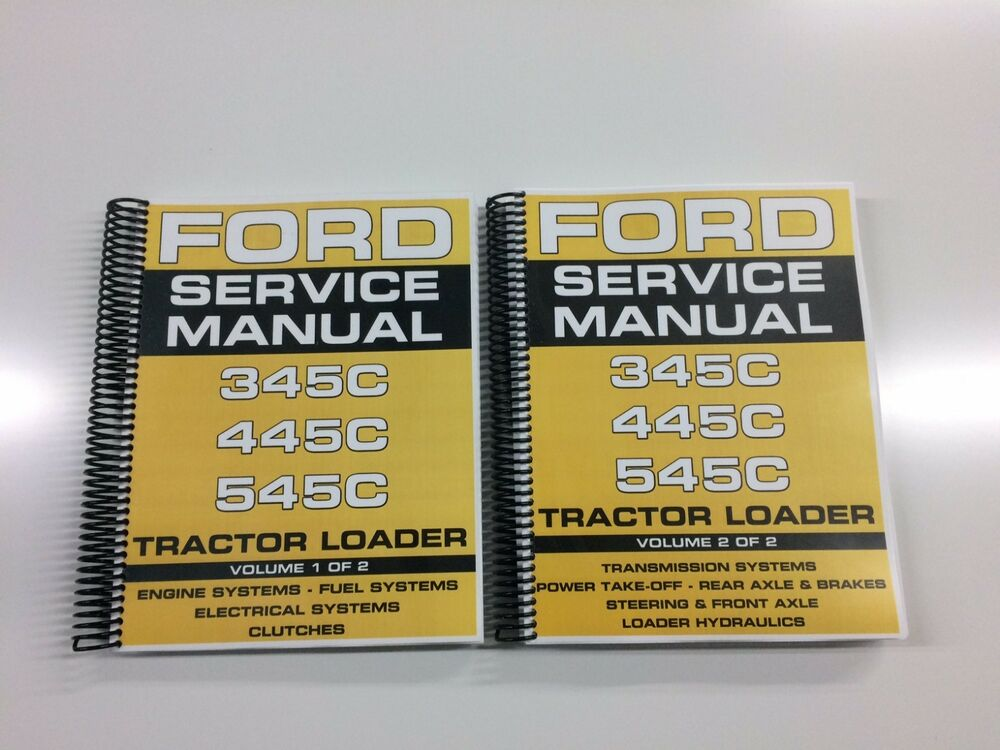 ford  tractor loader service manual technical manual