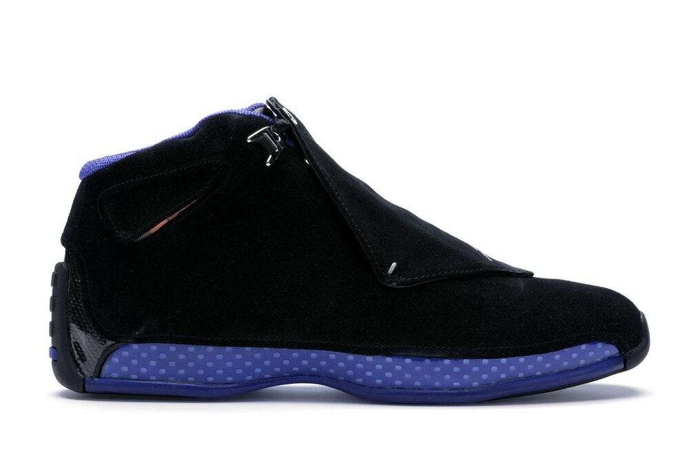 498914cd92e2 Details about 2018 Nike Air Jordan 18 XVIII Retro size 16. Black Sport  Royal Blue. AA2494-007