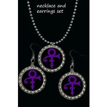 prince symbol necklace and earrings earring set