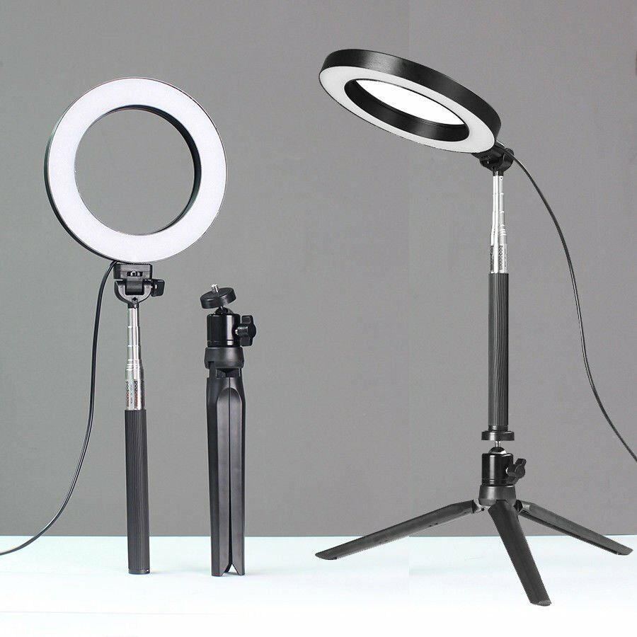 Led Ring Light Camera Photo Studio Shooting Dimmable W