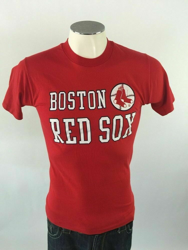 d2bae6344daa7 Details about Boston Red Sox VTG Champion T Shirt M Red MLB Baseball Mens 50  50 USA 70s 80s