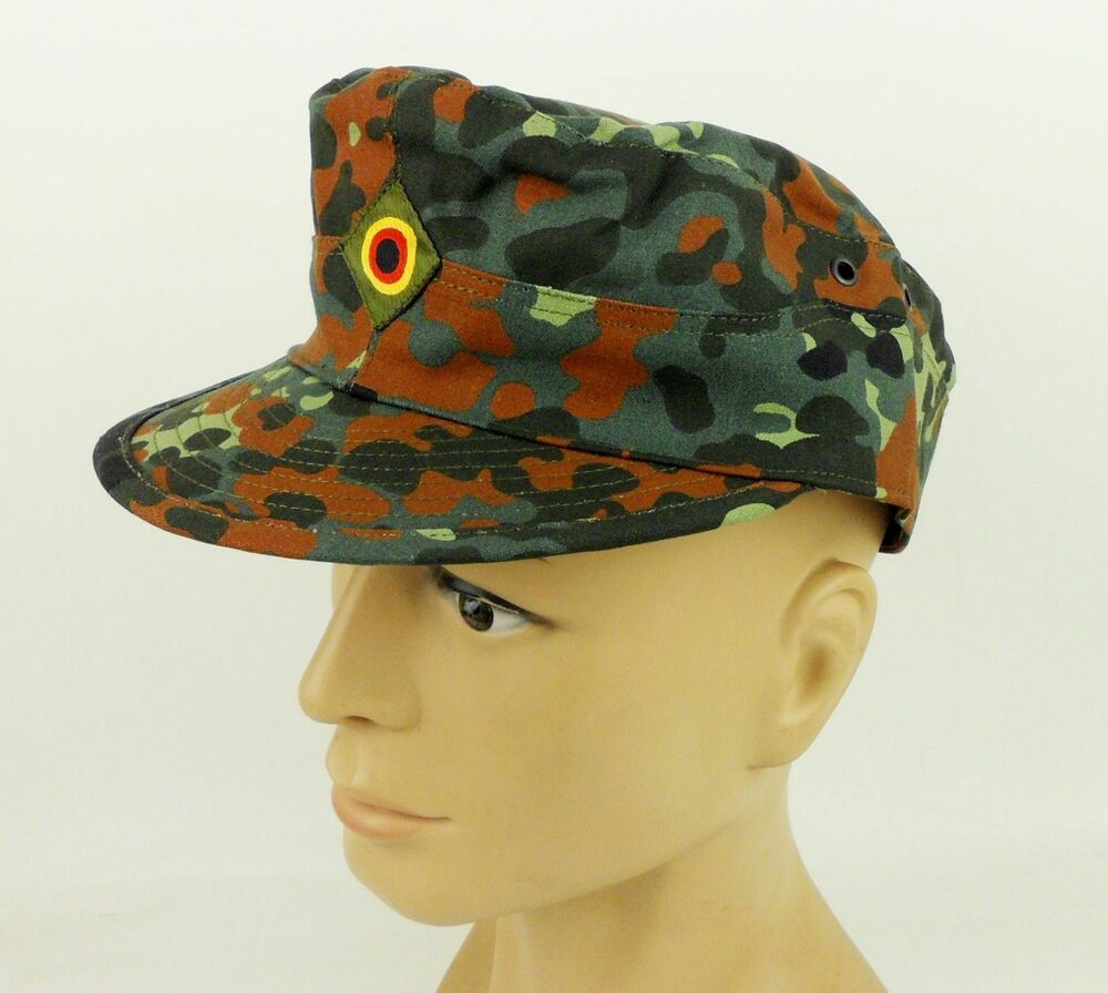 5cba7f90966 Details about German Army Flecktarn Camo Field Cap Hat Military Camouflage  Hat Size XL