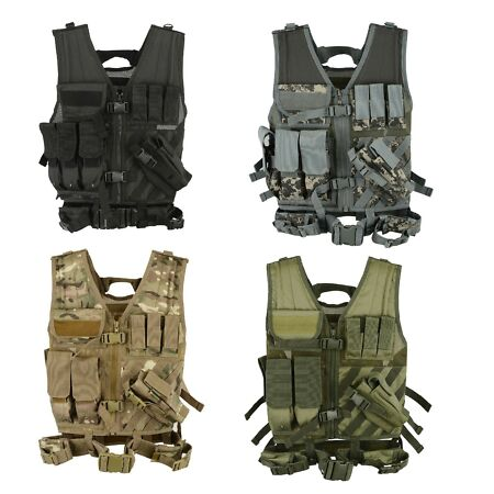 img-MTP Tactical Assault VEST Airsoft Vests Hunting Molle Attachment Rig Mag Pouches
