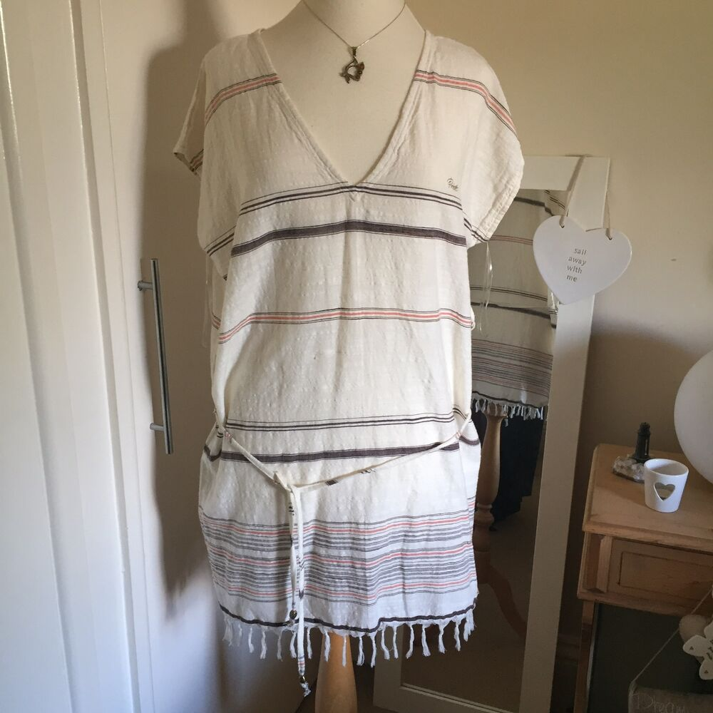 d6910f757c Details about BNWT Protest Cream/Brown/Orange Cotton Tunic/Beach Cover Up  Size L 39.99 New