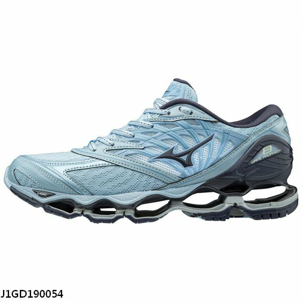 new photos 438a6 81c45 Details about Mizuno Wave Prophecy 8 Sky Blue Grey B Width Women Running  Shoes J1GD190054