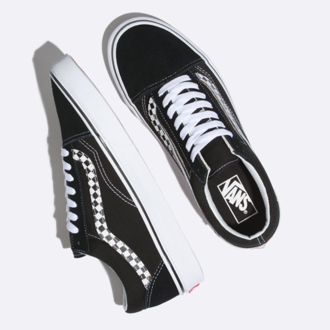 147dcab531d Details about Vans Old Skool (Sidestripe Velcro) Shoes - Black True White -  Sizes 9-12