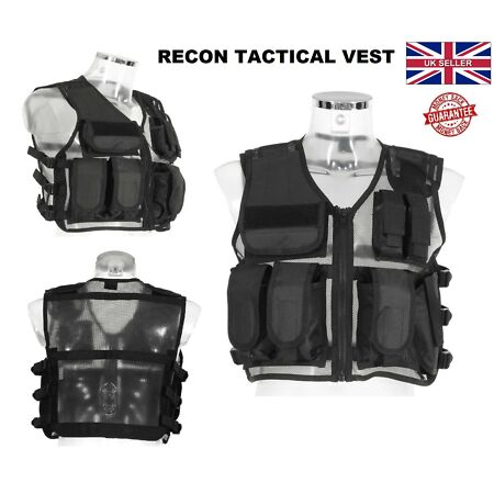 img-New RECON Tactical Vest Airsoft Military Mag Pouch Combat Assault Hunting Vests