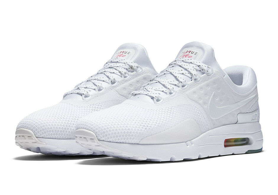 half off 49f5a 74d76 Details about Nike MEN S Air Max Zero QS White Pure Platinum BE TRUE SIZE  11.5 BRAND NEW RARE