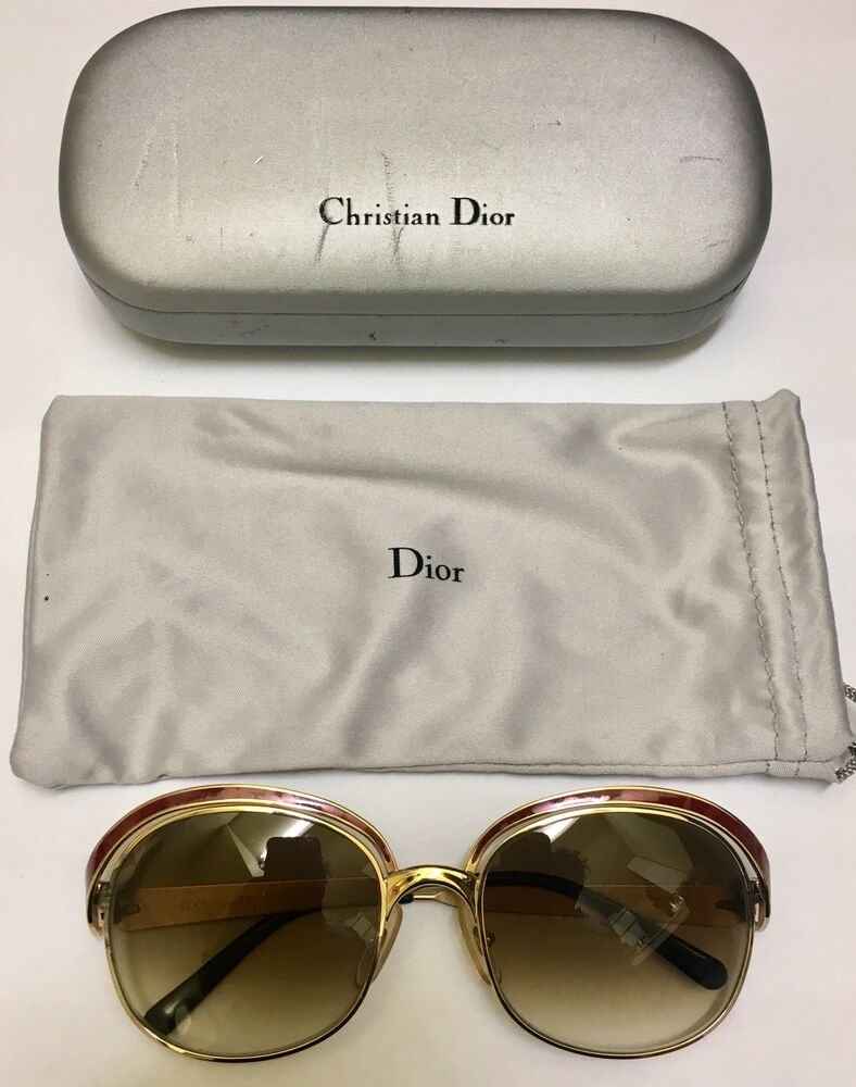988ac906ef3e Details about CHRISTIAN DIOR VINTAGE SUNGLASSES 2037 CoI 43 54x19 wi NEW  LENSES!! ALMOST NEW!!