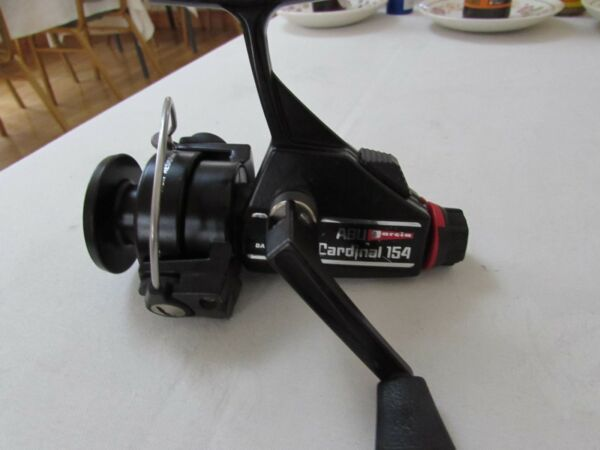 excellent vintage abu garcia sweden cardinal 154 spinning fishing reel
