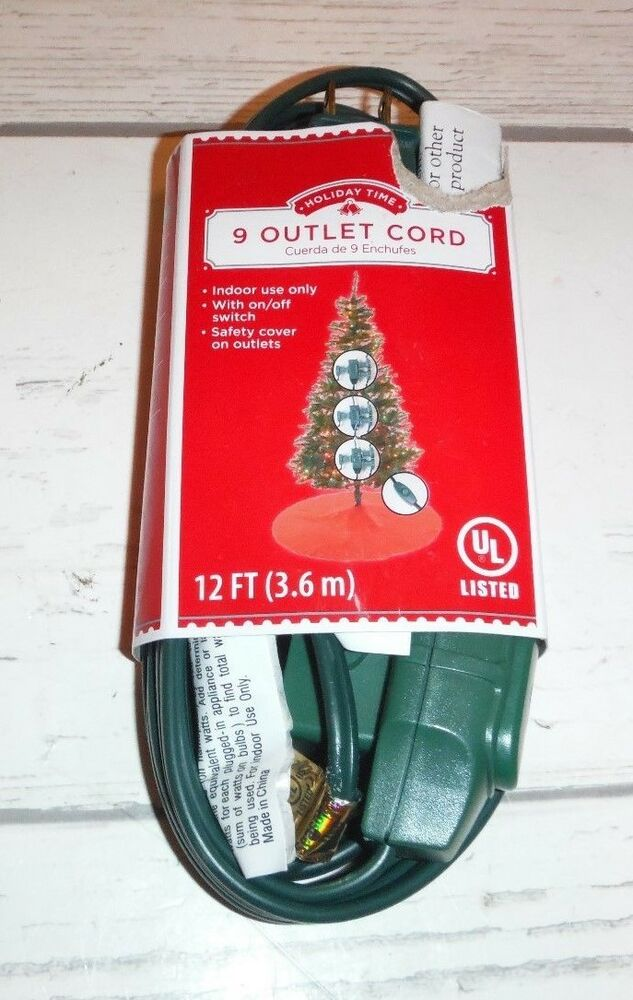 3 9 Outlet Power Entension Cords W Onoff Switch Holiday