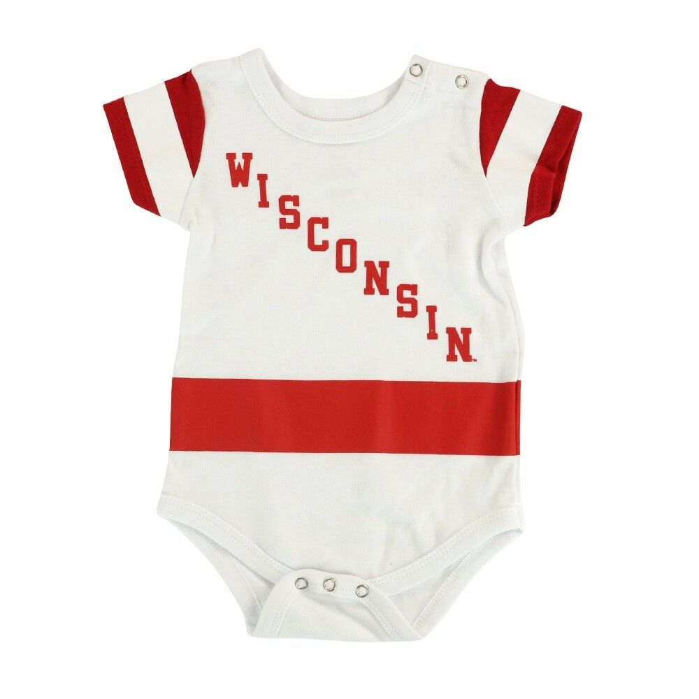 Details about Wisconsin Badgers NCAA Outerstuff Newborn White