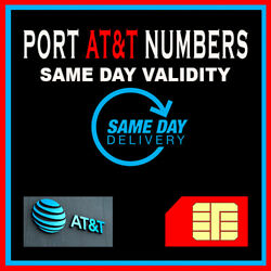 Kyпить Phone numbers | Numbers to Port | AT&T | FAST Service | SAME DAY VALIDITY! ONLY! на еВаy.соm