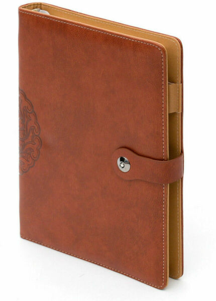 A5 NEW LEATHER REFILLABLE JOURNAL NOTEPAD NOTEBOOK  JOURNAL DIARY PEN HOLDER UK