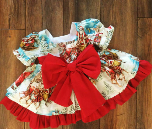 535dfa650d870 Details about US Toddler Baby Girls Kids Winter Princess Christmas Dress  Party Dresses Outfits