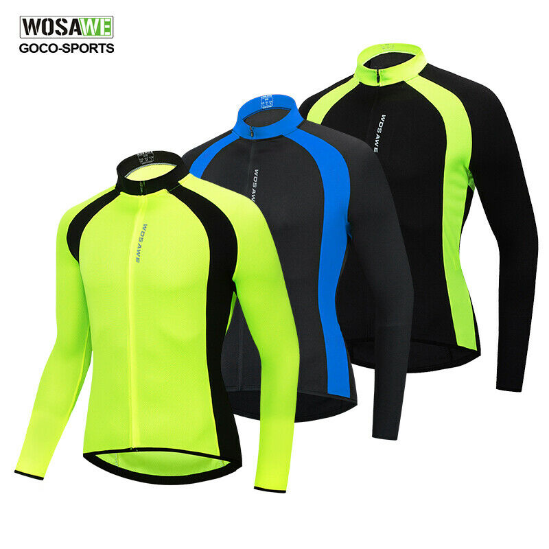 Details about Men s Long Sleeve Cycling Jersey Bike Tops Bicycle Cycle Shirt  Team Wear S-XXL 3f12c86e1