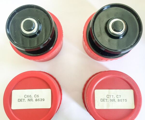 SET OF  6 ABU CARDINAL C6-C66 C7-C77  SPARE SPOOL METAL VINTAGE NEW