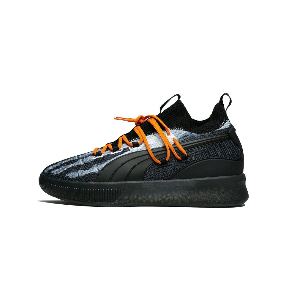 f9504344169f Details about Puma Clyde Court Disrupt X-Ray Halloween Black Orange  Basketball Men 191895-01