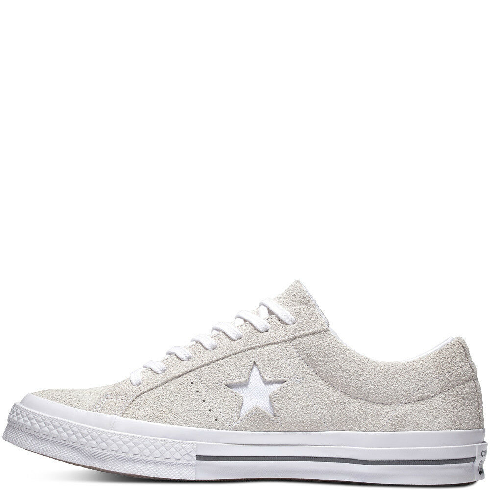 f1ea10f72288 Details about Converse One Star Vintage SUEDE Low Top Leather White Ox  Trainer sz8 sz10 sz10.5
